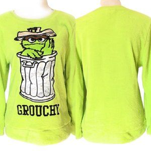 Sesame Street Grouchy Womens Small Pullover Top